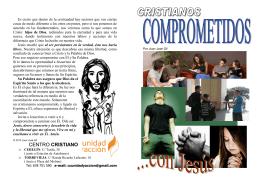 FOLLETO - CRISTIANOS COMPROMETIDOS