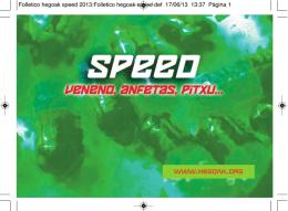 Folleto SPEED