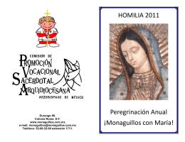 Folleto Homilia 2011
