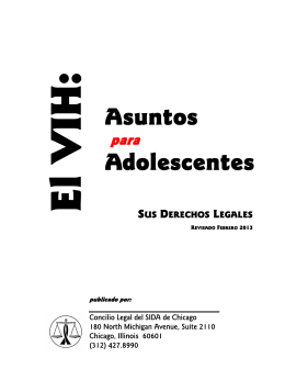 Asuntos Adolescentes - AIDS Legal Council of Chicago
