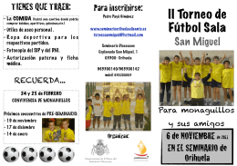 FOLLETO TORNEO - Colegio Diocesano Santo Domingo