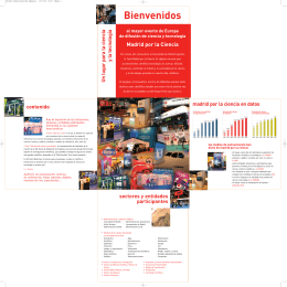 Folleto informativo de la VIII Feria de Madrid por la Ciencia
