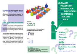 folleto informativo jornadas