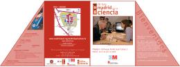 Folleto Informativo de la VII feria Madrid por la Ciencia