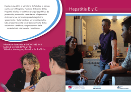 folleto hepatitis B y C