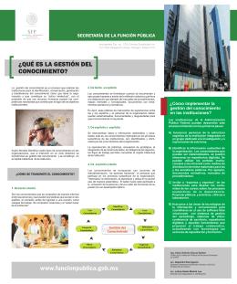 folleto gestion del conocimiento - Secretaría de la Función Pública