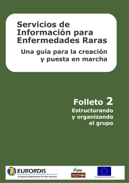 Servicios de Información para Enfermedades Raras Folleto 2