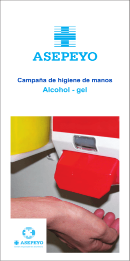 Folleto alcohol-gel
