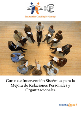 Folleto Curso Sistemico DS V2 - Institute for Coaching Psychology