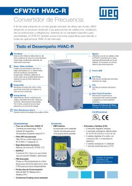 CFW701 HVAC-R Convertidor de Frecuencia