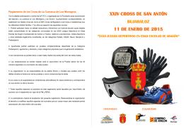 folleto BUJARALOZ 15 - Federación Aragonesa de Atletismo
