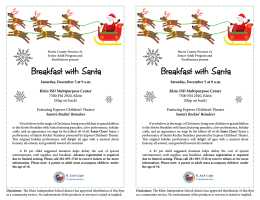 Breakfast with Santa Breakfast with Santa