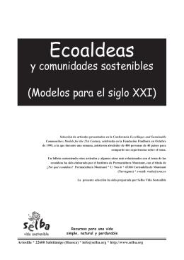 Ecoaldeas y Comunidades sostenibles