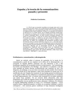 España y la teoría de la comunización