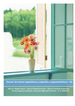 Dossier de textos expositivos y expositivo/argumentativos – B2