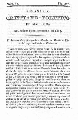 Semanario Cristiano Político de Mallorca Tomo III