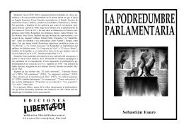 La podredumbre parlamentaria, Faure