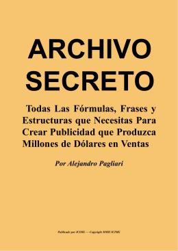 Archivo Secreto Publicidad