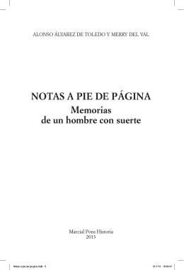 NOTAS A PIE DE PÁGINA Memorias de un hombre