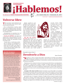 Volverse libre - Living the Eucharist