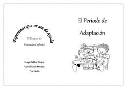 """folleto periodo adaptacion - """"GABRIEL GARCÍA MÁRQUEZ"""" Tres"""