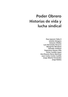Poder Obrero. Historias de vida y lucha sindical.
