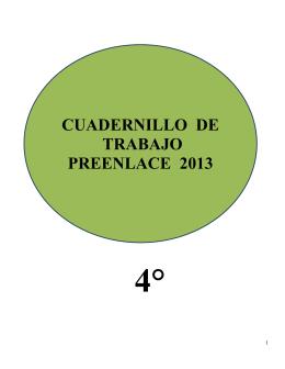 CUADERNILLO DE TRABAJO PREENLACE 2013