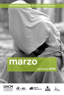 cartelera 2014 - Universidad de la Ciudad de México