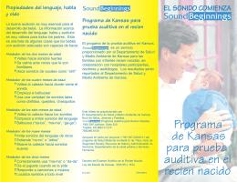 Programa de Kansas para prueba auditiva en el recien nacido