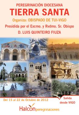 Peregrinación a TIERRA SANTA - Diocese de Tui-Vigo