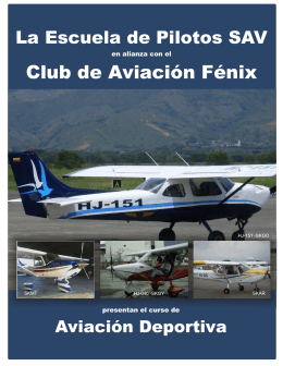 folleto AD - Escuela de Pilotos SAV