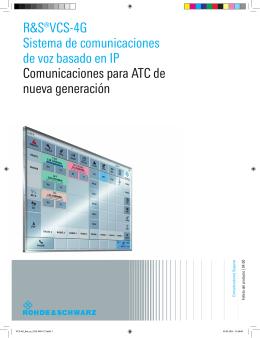 Folleto del producto (espaniol) para R&S®VCS
