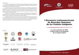 Folleto - Programa - Ministerio Público de la Defensa