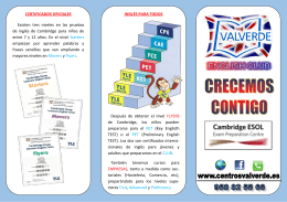 Folleto Club de Ingles - Centro de Estudios Valverde