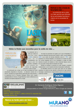 LASIK FOLLETO OCUCLINIC