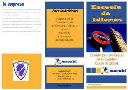 Folleto Escuela de Idiomas 2015-2016