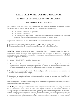 LXXIV Pleno Informe Folleto - cioac central independiente de
