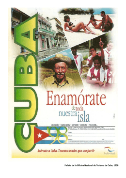 Folleto de la Oficina Nacional de Turismo de Cuba, 1998