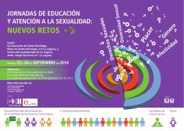 JORNADAS DE EDUCACIÓN y ATENCIÓN A LA SEXUALIDAD