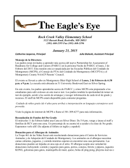 The Eagle`s Eye - Montgomery County Public Schools