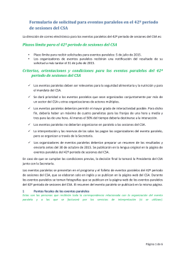 Formulario de solicitud para eventos paralelos CSA 42