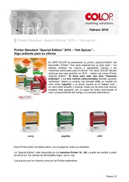 "Febrero 2010 4 Printer Standard ""Special Edition"" 2010"