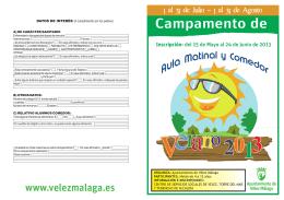 folleto CAMPAMENTO VERANO 2013