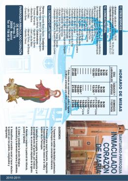 folleto-parroquia - Parroquia del Inmaculado Corazón de María