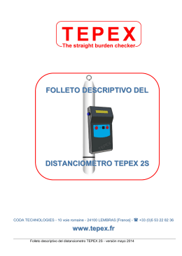 FOLLETO DESCRIPTIVO DEL DISTANCIOMETRO TEPEX 2S