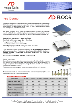 Folleto Piso Tecnico.cdr - Area Data