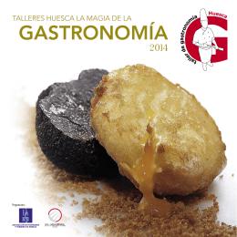 folleto talleres de gastronomia huesca 2014