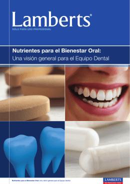 Nutrientes para el Bienestar Oral – Folleto