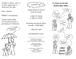 UD Mental Health Children`s Spanish brochure.qxd