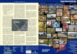Folleto información Alto Tajo - Apartamentos Rurales Las Fuentes